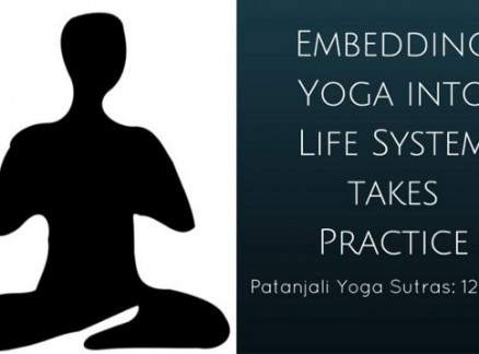 Embedding Yoga into Life System takes Practice. Patanjali Sutras 12–14