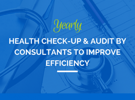 Yearly Health Check-up and Audit by Consultants to Improve Efficiency