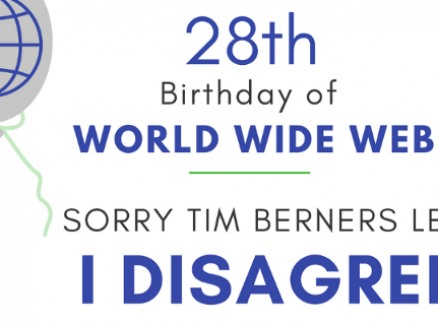 28th Birthday of World Wide Web: Sorry Tim Berners Lee, I Disagree!