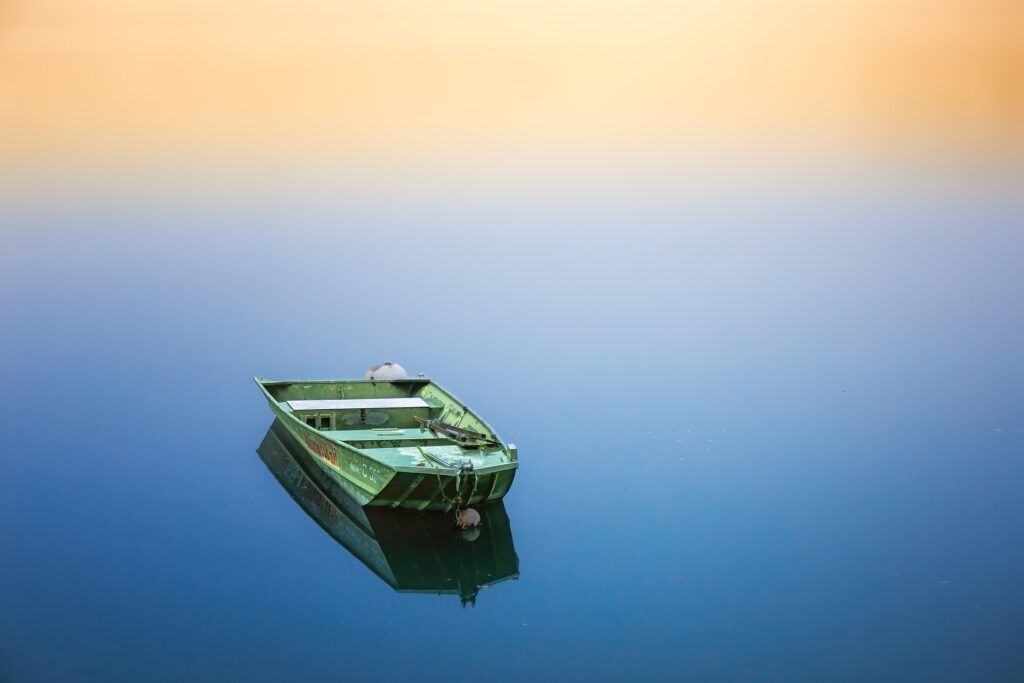 boat on still water