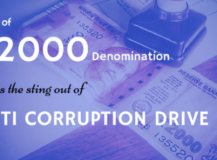 Issue of ₹ 2000 Denomination Takes the Sting out of ANTI CORRUPTION DRIVE