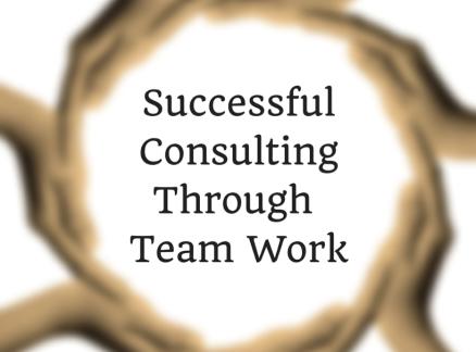 Successful Consulting Through Team Work