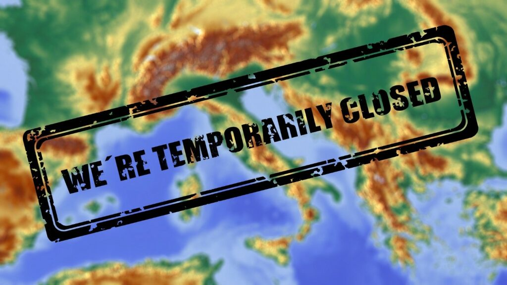 temporarily closed earth