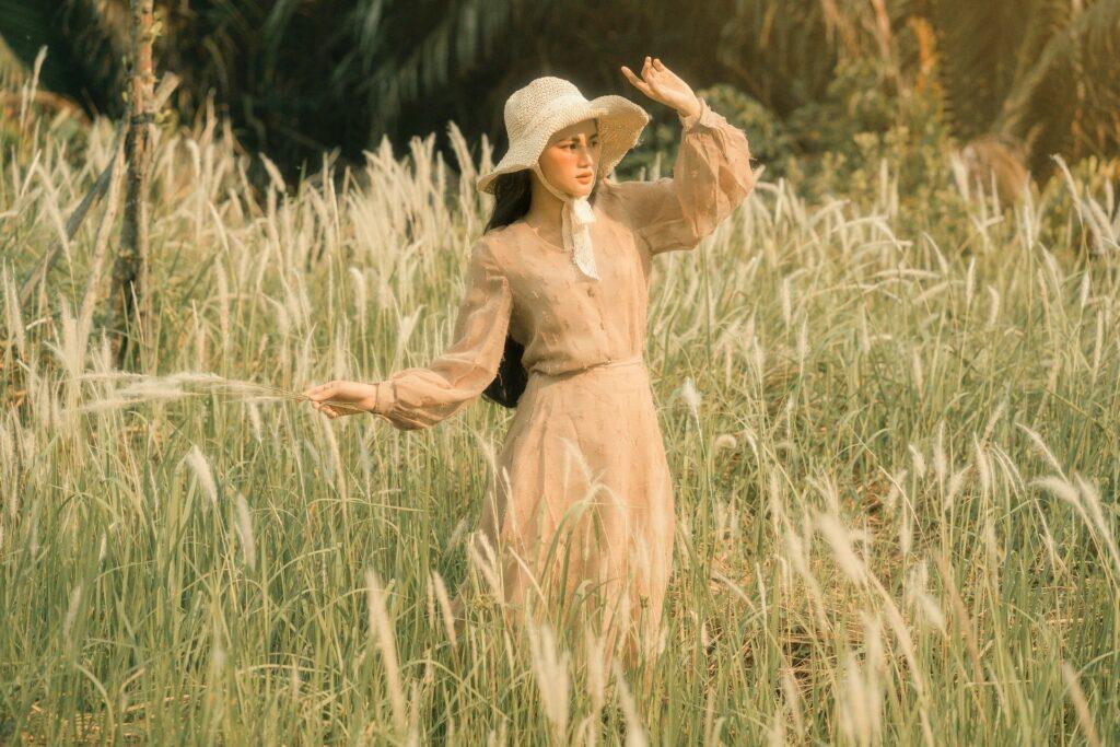 woman in farm