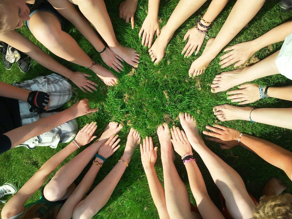 people sitting in circle