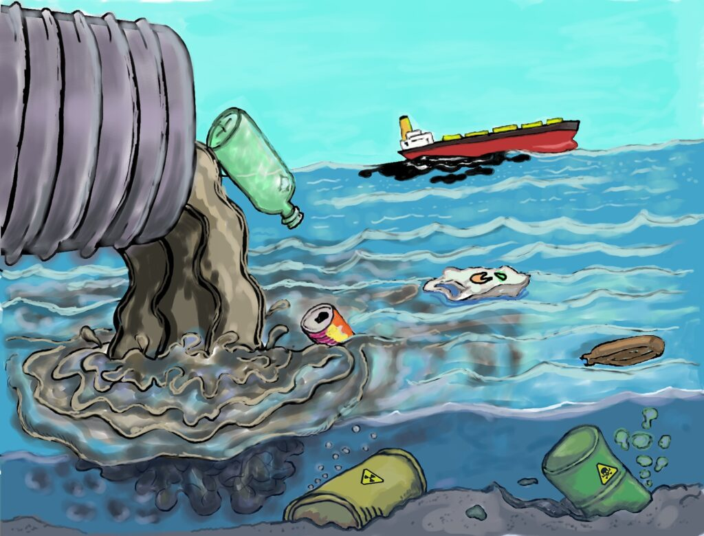 waste dumping in sea