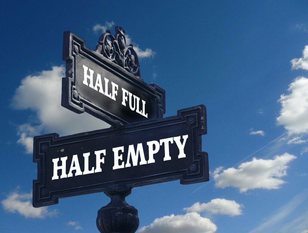 half full half empty